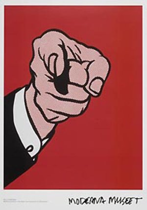 画像2: Roy Lichtenstein: Finger Pointing ポスター