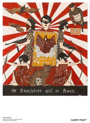 画像1: Marcel Dzama: the Revolution will be Female ポスター