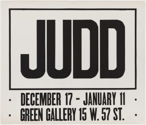 画像2: Donald Judd: 展覧会(1963)ポスター