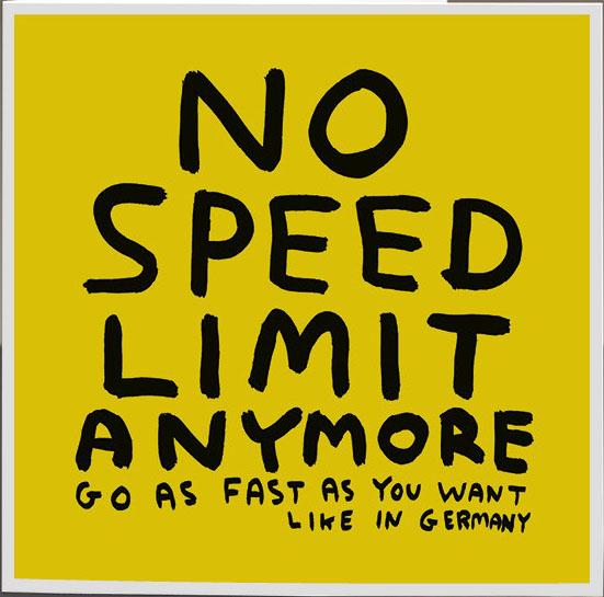 david shrigley no speed limit satellite サテライト